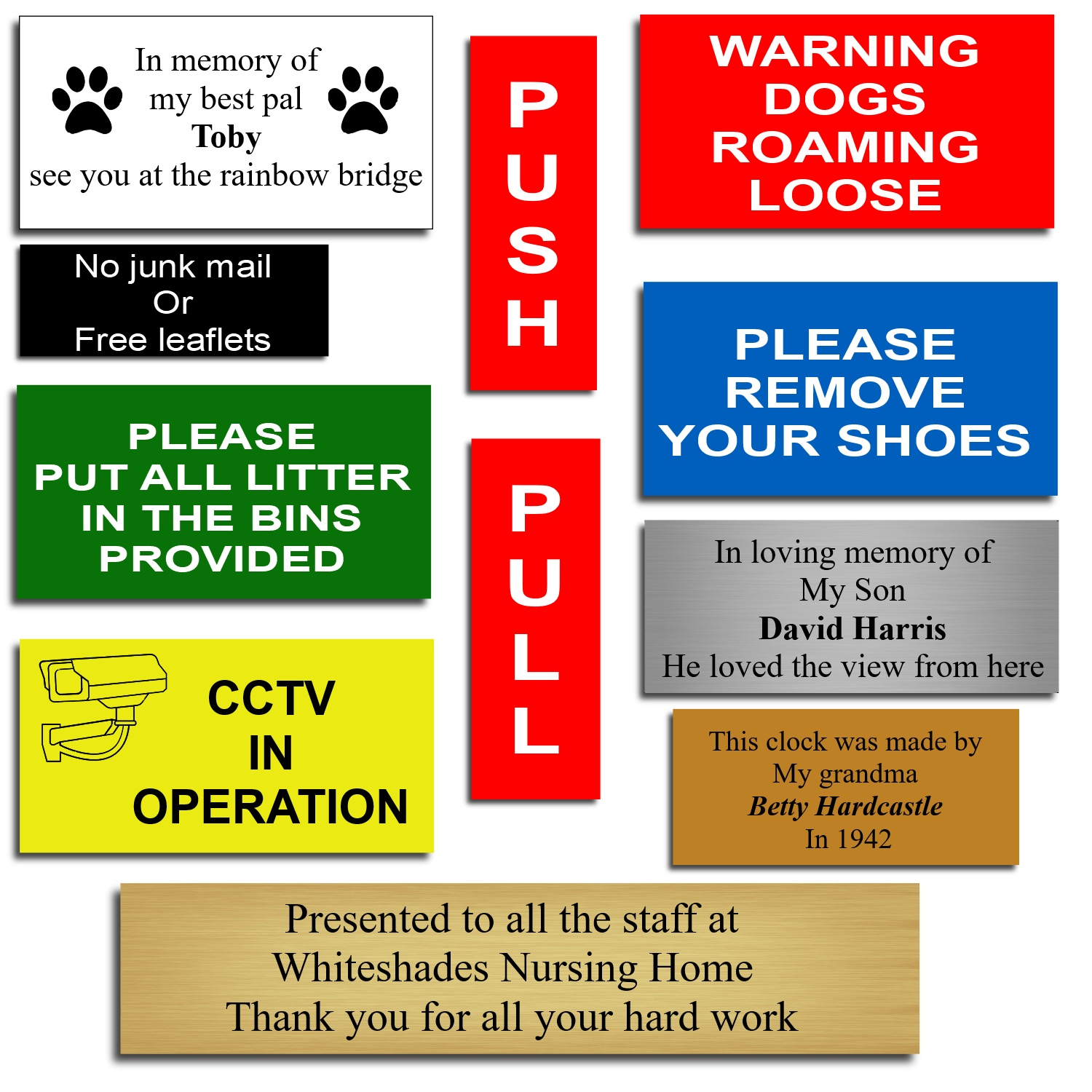 Laminate Plastic Signs